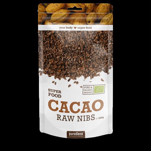 Cacao Nibs hữu cơ Purasana 200g