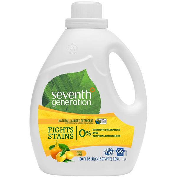 Nước giặt 2X đậm đặc hương chanh Seventh Generation 2.95l