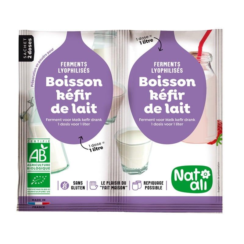 Men sữa chua kefir hữu cơ Natali 2x6g