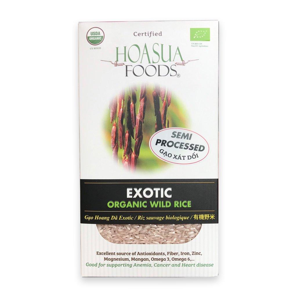 Gạo xát dối hữu cơ Hoa Sữa (exotic) 1kg