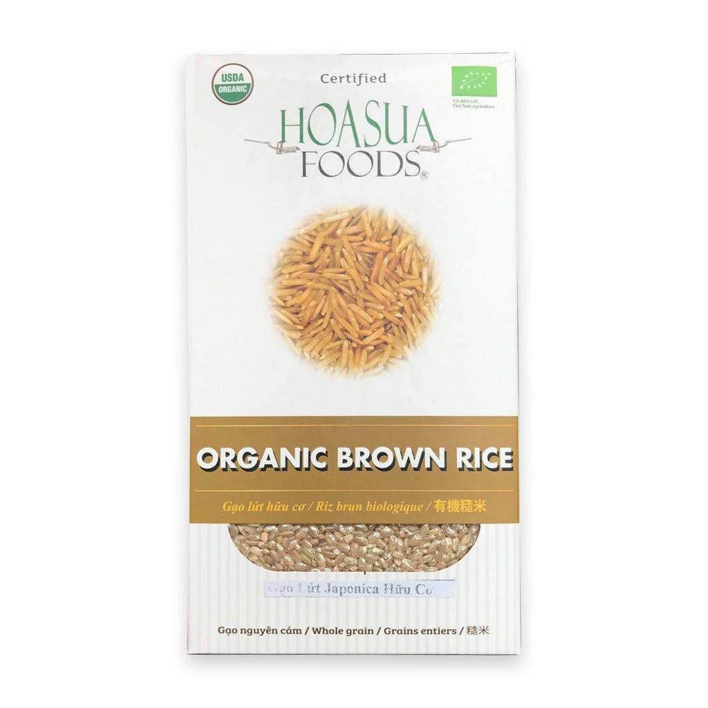 Gạo lứt hữu cơ Hoa Sữa (Japonica) 1Kg (Hộp)