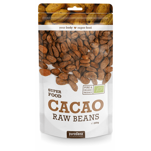 Hạt cacao hữu cơ Purasana 200g