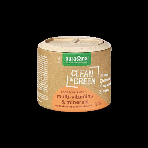 Hỗn hợp vitamin và khoáng chất hữu cơ Purasana (Hộp 60 viên)