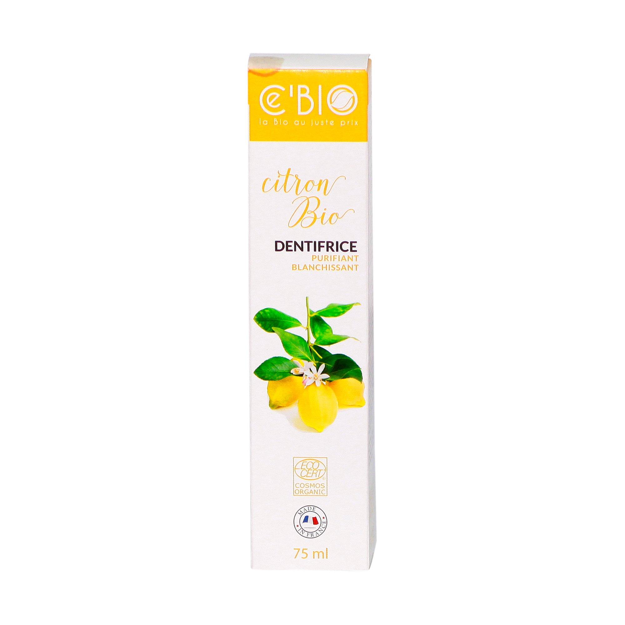 Kem đánh răng hữu cơ Gravier Cé Bio hương chanh (trắng răng) 75ml