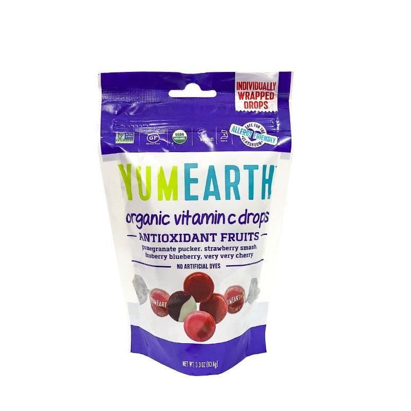 Kẹo viên hữu cơ vị trái cây bổ sung vitamin C Yumearth 93.6g