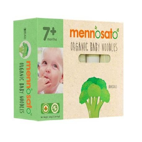 Mỳ hữu cơ cho bé vị bông cải xanh Men No Sato 200g