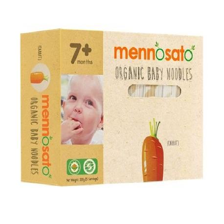Mỳ hữu cơ cho bé vị cà rốt Men No Sato 200g
