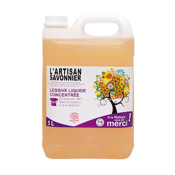 Nước giặt sinh học đậm đặc oải hương Artisan Savonnier 5L