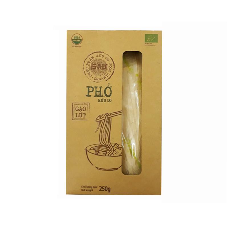 Phở gạo lứt hữu cơ Quốc Hương 250g (hộp)