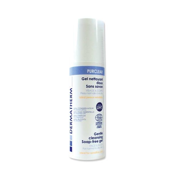 Sữa rửa mặt và cơ thể cho da thường và khô Purclear Dermatherm 150ml
