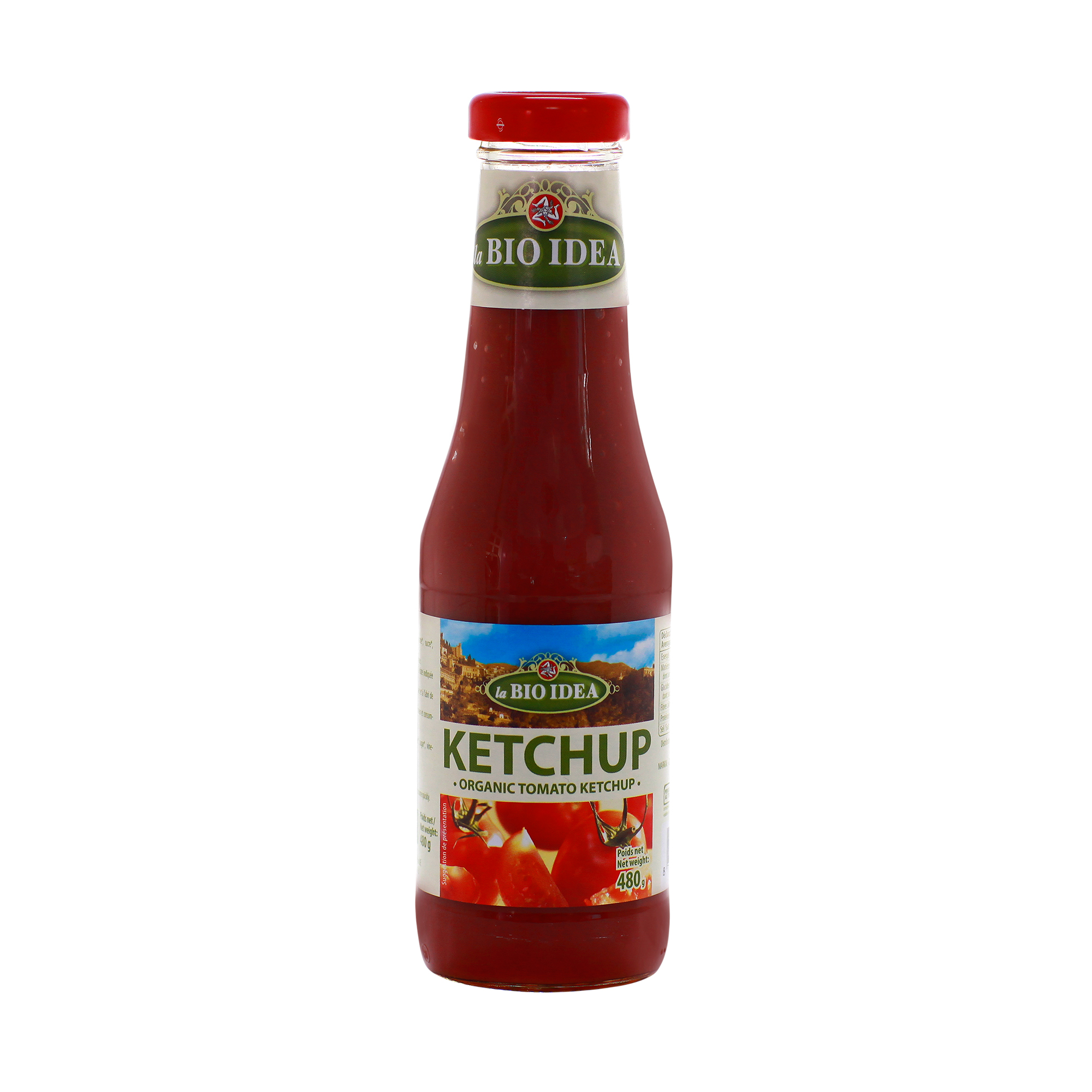 Sốt tương cà ketchup hữu cơ Bio Idea 480g