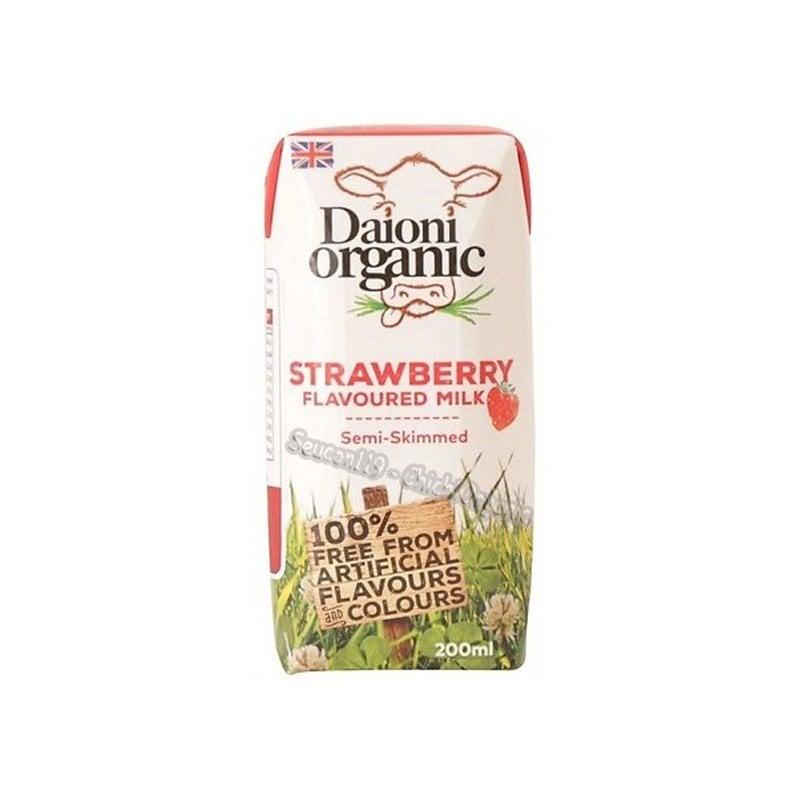 Sữa tươi hữu cơ vị dâu Daioni 200ml