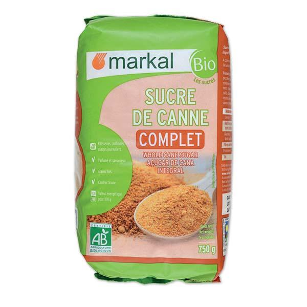 Đường mía thô nguyên chất hữu cơ Markal 750g