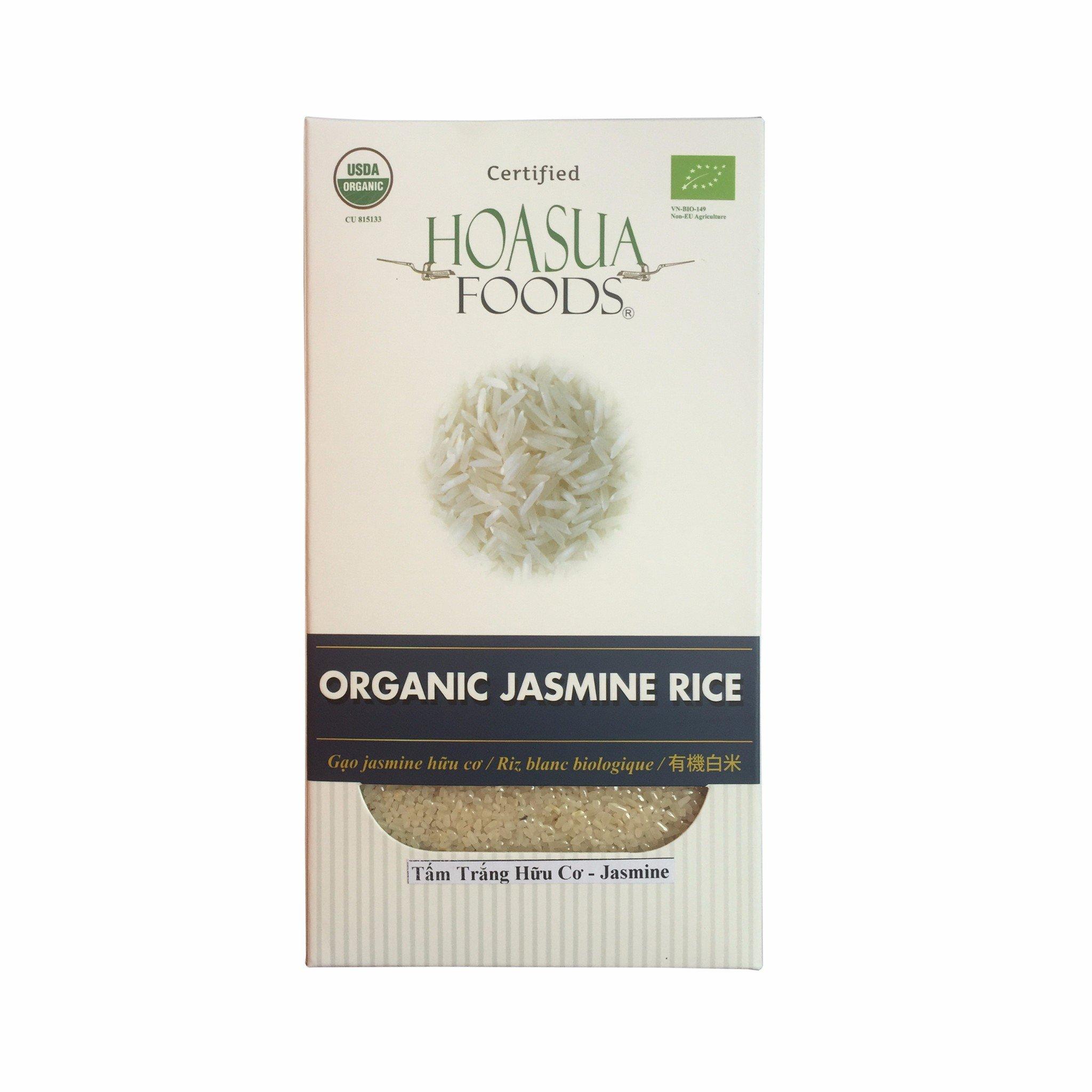 Gạo tấm trắng hữu cơ Hoa Sữa (Jasmine) 1kg