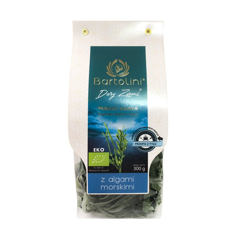 Mì nui hữu cơ vị tảo sợi dẹt Bartolini 300g