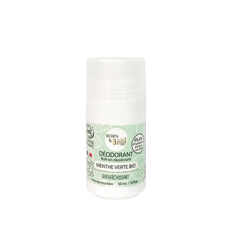 Lăn khử mùi hữu cơ hương bạc hà Born to Bio 50ml
