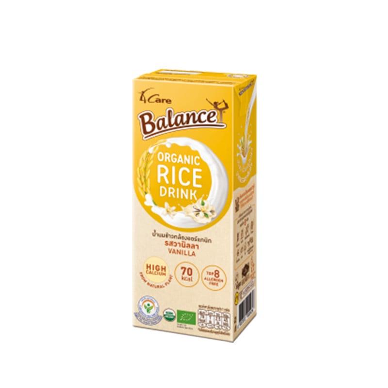 Sữa gạo hữu cơ vị vani 4Care Balance 180ml