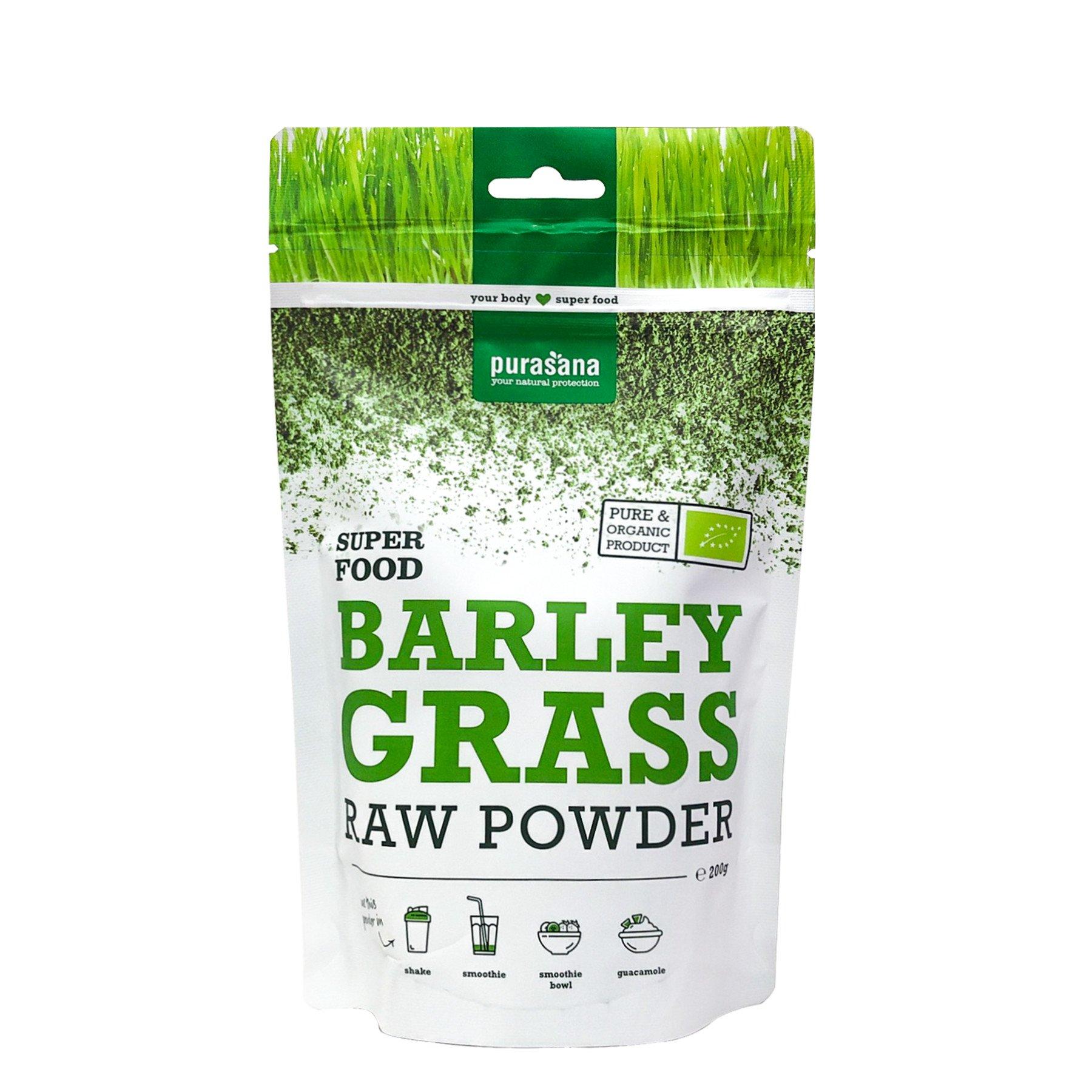 Bột mạ đại mạch hữu cơ Barley Grass Purasana 200g