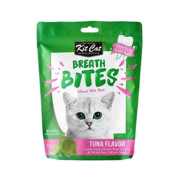 Bánh thưởng sạch răng cho mèo Kit Cat Breath Bites 60g