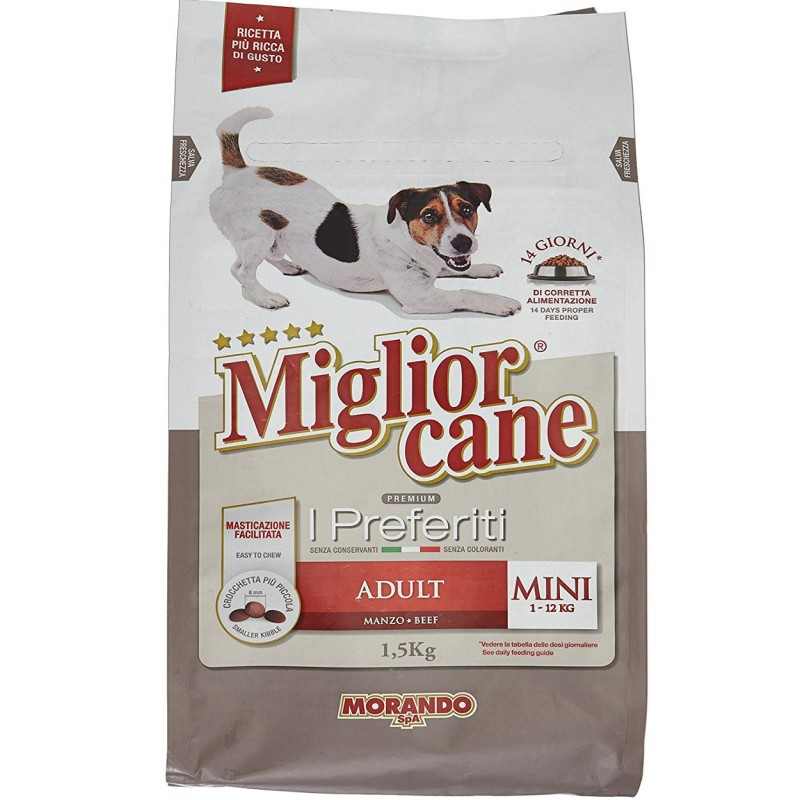Hạt MigliorCane M02 cho chó trưởng thành size nhỏ 1,5kg