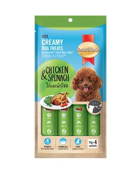 Bánh thưởng dạng kem SmartHeart Creamy cho chó 60g