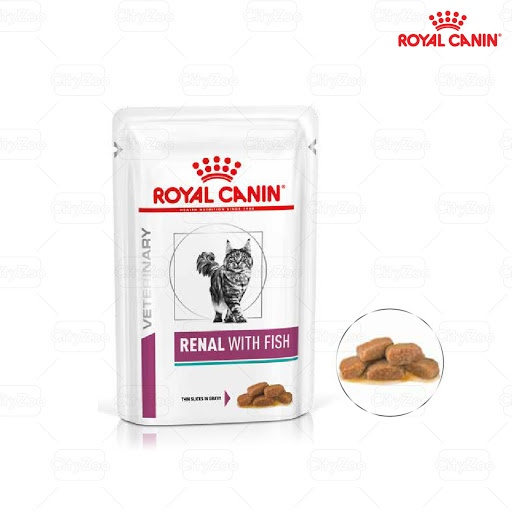 Pate Royal Canin Renal with Fish Feline 85g