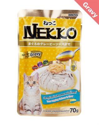 Pate Nekko Gravy cho mèo dạng sốt 70g