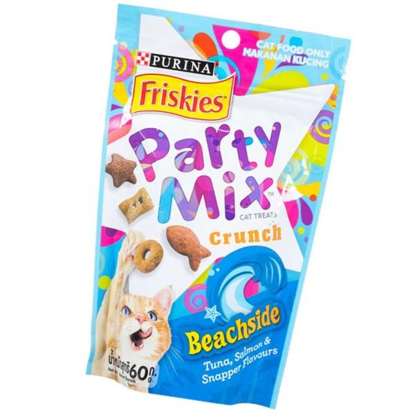 Bánh thưởng siêu giòn Purina Friskies Party Mix cho mèo 60g