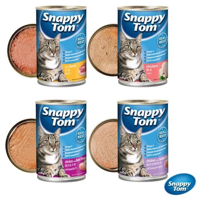 Pate Snappy Tom Grain Free cho mèo lon 400g