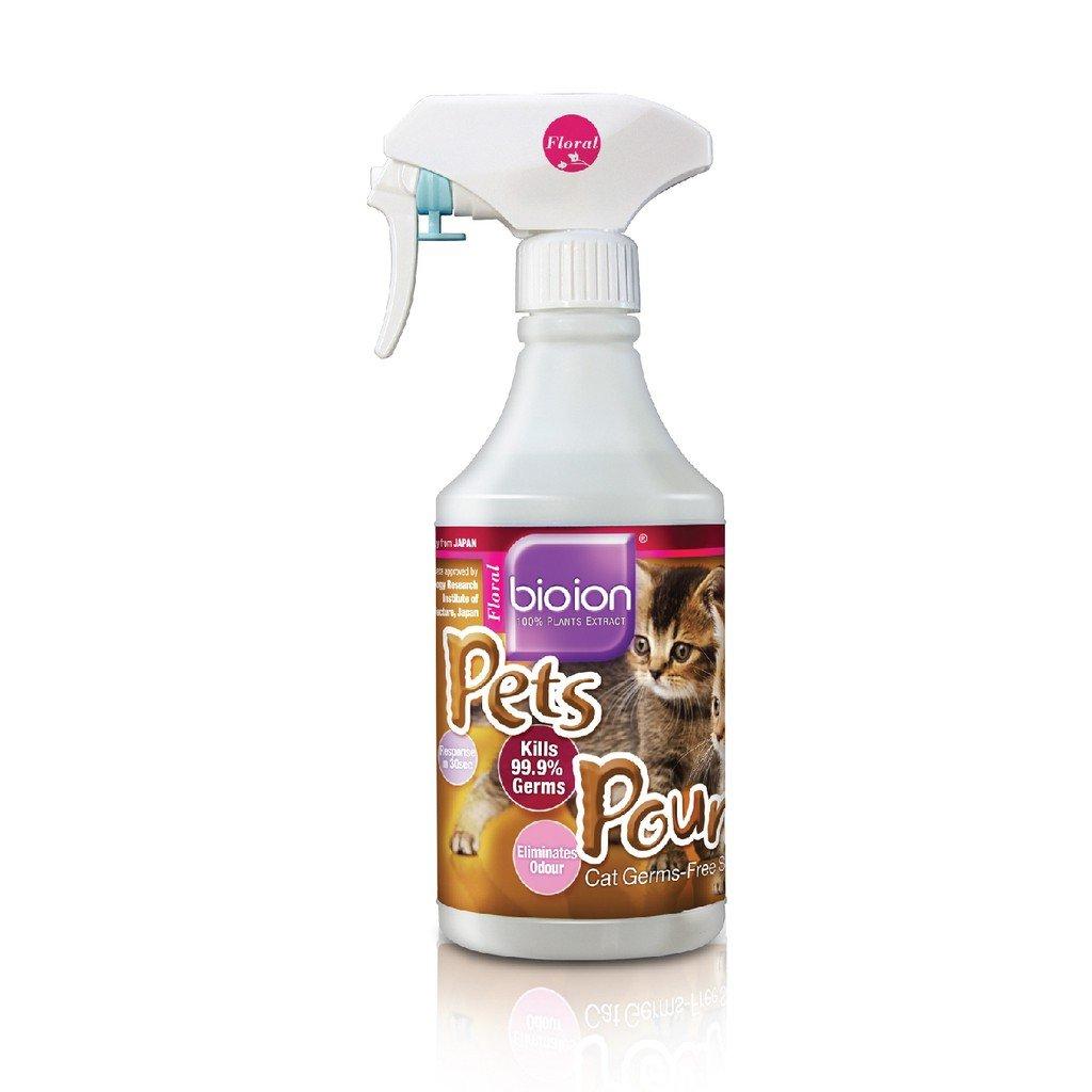 Xịt khử trùng và mùi hôi cho thú cưng Bioion Pets Pounce 500ml