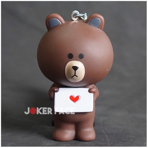 Móc Khoá Gấu Brown Love Letter Joker Face Shop