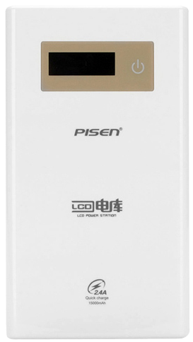 sdp pisen lcd power station 15000mah 2.4a 2.5d curved