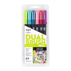 ABT Dual Brush Pen Set 6 Tropical