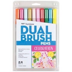 ABT Dual Brush Pen Set 10 Celebration
