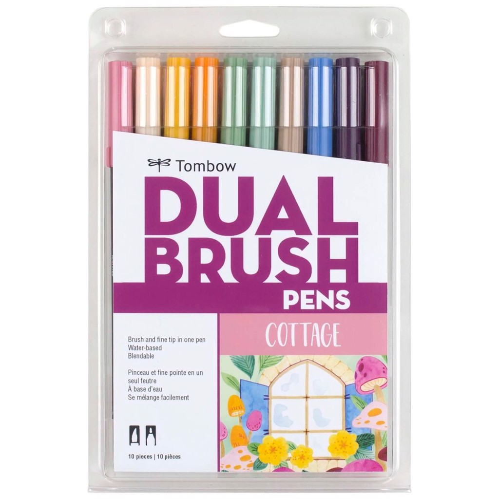 ABT Dual Brush Pen Set 10 Cottage