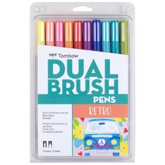 ABT Dual Brush Pen Set 10 Retro