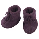 ENGEL Booties cho bé 100% Merino wool Purple melange