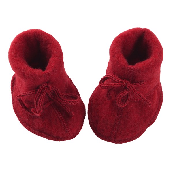 ENGEL Booties cho bé 100% Merino wool Red melange