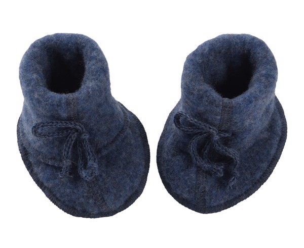 ENGEL Booties cho bé 100% Merino wool Blue melange