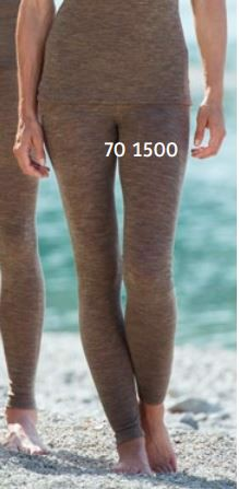 ENGEL Quần legging nữ 70% Merino wool 30% Silk Walnut