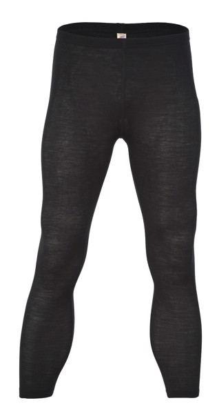 ENGEL Quần legging nam 70% Merino wool 30% Silk Black