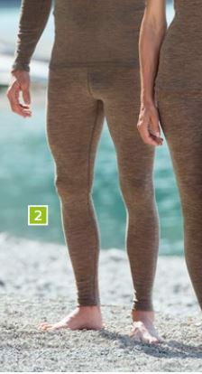 ENGEL Quần legging nam 70% Merino wool 30% Silk Walnut