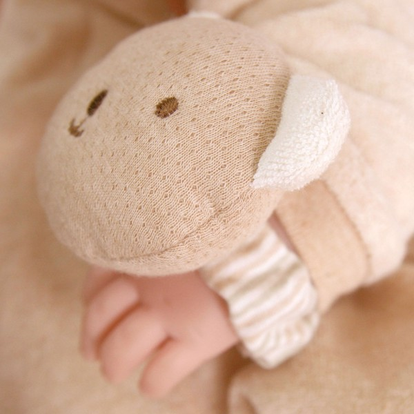 JOHN N TREE Bear Doll wrist rattle 10cm