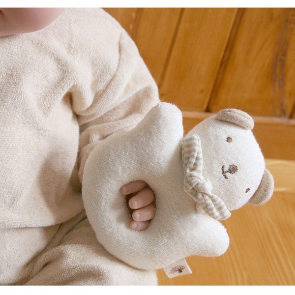 JOHN N TREE Baby Bear rattle 13cm