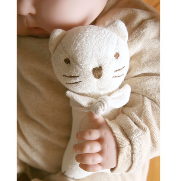 JOHN N TREE Baby Kitty handle rattle 17cm
