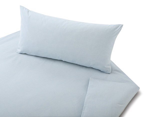 COTONEA Linen chambray Bedding pastel blue