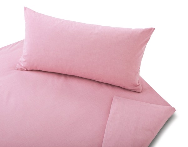 COTONEA Linen chambray Bedding pastel pink