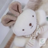 JOHN N TREE Baby Rabbit rattle 13cm