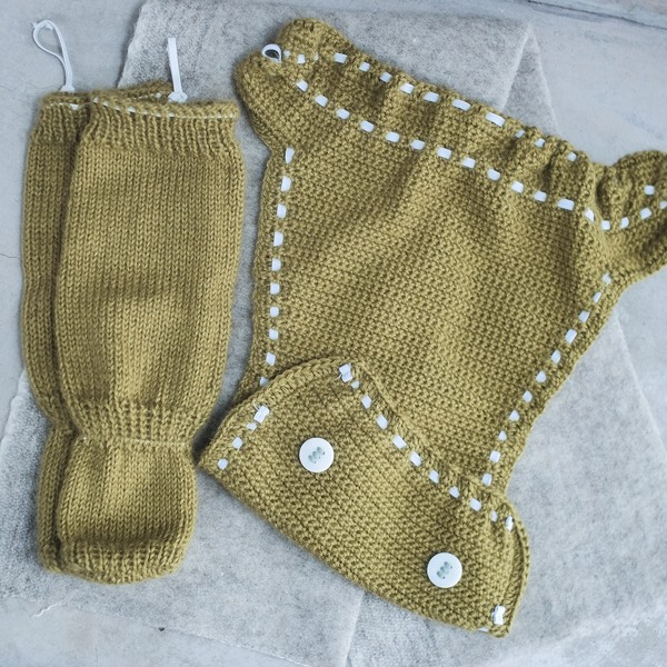 CHOI KNITTED Tất ống Alpaca Green