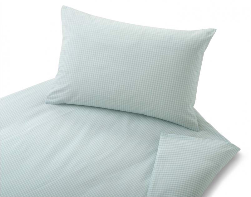 COTONEA Linen Children Bedding Vichy caro Light blue